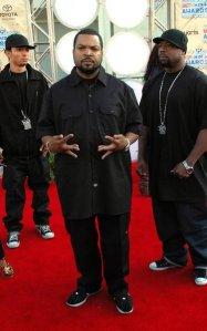Ice Cube no tapete vermelho.